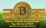 Bitcoin Greatly Outperforms Top Stocks in 2019 After Surviving Crypto Winter: DataLight Report