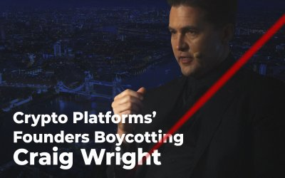 Crypto Platforms' Founders Boycotting Craig Wright at CC Blockchain Forum in London