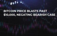 Bitcoin Price Blasts Past $10,000, Negating Bearish Case