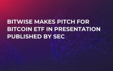Bitwise Makes Pitch for Bitcoin ETF in Presentation Published by SEC