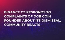 Binance CZ Responds to Complaints of DGB Coin Founder about Its Dismissal, Community Reacts
